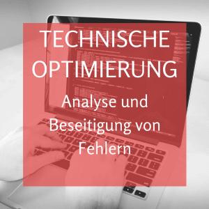 Technische Optimierung von Webseiten